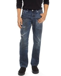 True Religion Brand Jeans Rocco Distressed Skinny Fit Jeans