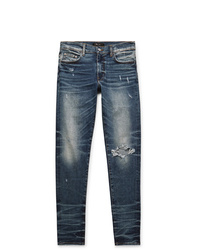 Amiri Skinny Fit Distressed Stretch Denim Jeans