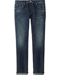 Uniqlo Slim Fit Distressed Jeans