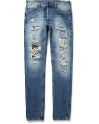 Alexander McQueen Slim Fit Washed Selvedge Denim Jeans