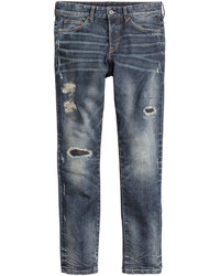 H&M Slim Low Jeans Dark Denim Blue