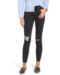 Madewell 9 Inch High Rise Ripped Skinny Jeans