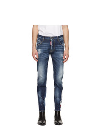 DSQUARED2 Blue 4 Wash Skater Jeans