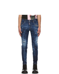 DSQUARED2 Blue Galaxy Skater Jeans