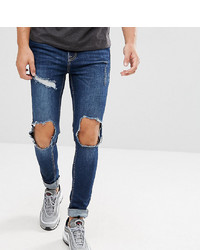 154f5edbd3 Brooklyn Supply Co Muscle Fit Jeans Ripped Mid Wash
