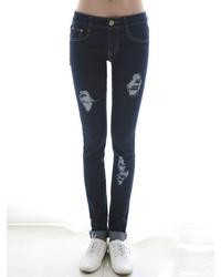 Choies Skinny Jeans With Distressing