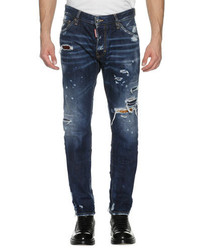 DSQUARED2 Cool Guy Distressed Denim Skinny Jeans Wild Mountain