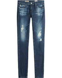 AG Jeans Cotton Jersey Distressed Skinny Jeans