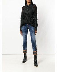 Dsquared2 Cropped Low Rise Jeans