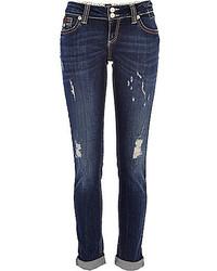 River Island Dark Wash Ripped Matilda Skinny Jeans