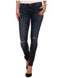 Blank NYC Denim Blue Skinny W Rip Jeans