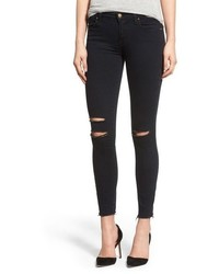 Destroyed crop skinny jeans medium 518657