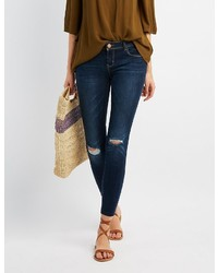 Charlotte Russe Destroyed Skinny Jeans