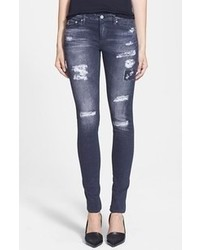 AG Jeans Digital Luxe Denim Coated Skinny Jeans