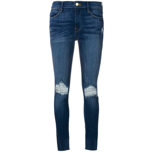 Frame Denim Distressed Detail Jeans