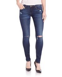 Blank NYC Distressed Skinny Jeans Dark Destroy Wash