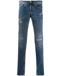 Eleventy Distressed Slim Fit Jeans