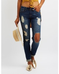 Charlotte Russe Dollhouse Destroyed Skinny Jeans
