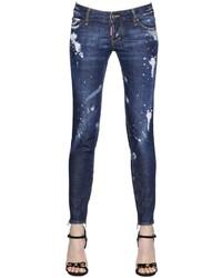 Dsquared2 Skinny Fit Destroyed Stretch Denim Jeans