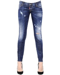 Dsquared2 Skinny Washed Destroyed Denim Jeans