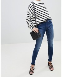 Pieces Five Salsa High Waisted Distressed Skinny Jeans