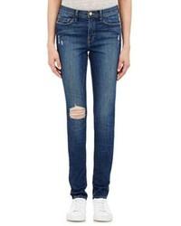 Frame Denim Karlie Forever Distressed Skinny Jeans Blue
