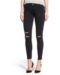 J Brand Destroyed Crop Skinny Jeans