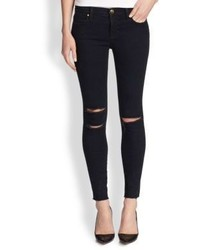 J Brand Photo Ready Distressed Ankle Skinny Jeansblue Mercy