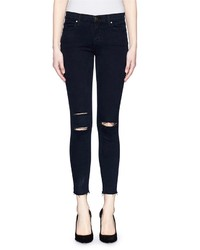 J Brand Photo Ready Ripped Knee Cropped Skinny Jeans