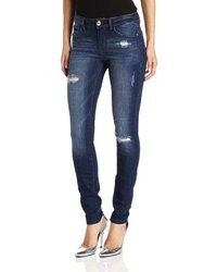Kensie Jeans Denim Skinny Jean With Distructions