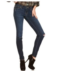 Jessica Simpson Kiss Me Dark Wash Destroyed Skinny Jeans