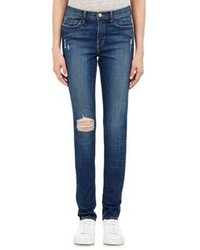 Frame Denim Karlie Forever Distressed Skinny Jeans Blue