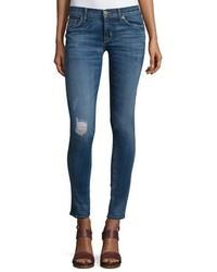 Hudson Krista Distressed Skinny Ankle Jeans Fierce