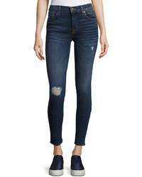 Hudson Krista Distressed Skinny Jeans Blue