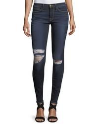 Frame Le Skinny De Jeanne Distressed Knee Skinny Jeans