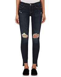 Frame Le Skinny De Jeanne Raw Stagger Distressed Jeans
