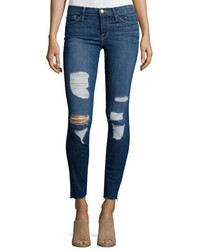 Frame Le Skinny Distressed Jeans Park Jefferson