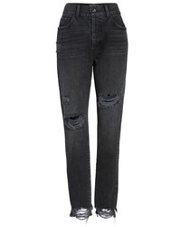 Band of Gypsies Madison Ripped High Waist Skinny Jeans