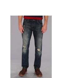 Mavi Jeans Jake Regular Rise Slim Leg In Ripped Ny Vintage Jeans