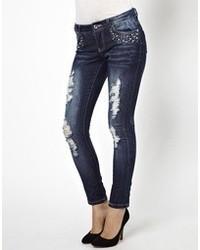 Only Destroy Wash Skinny Jean