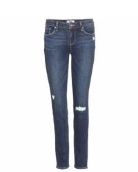 Paige Skyline Ankle Peg Mid Rise Skinny Jeans