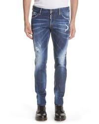 DSQUARED2 Paint Splatter Slim Fit Jeans