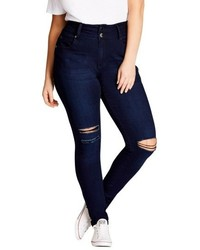 City Chic Plus Size Harley Ripped High Rise Skinny Jeans