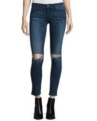 DL1961 Premium Denim Emma Ripped Power Legging Jeans Barbwire