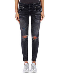 R 13 R13 Biker Boy Distressed Skinny Jeans