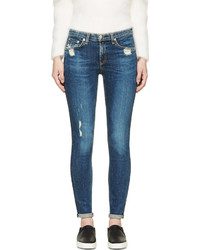 Rag and Bone Rag Bone Deep Indigo Distressed La Paz Skinny Jeans