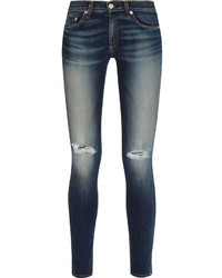 Rag and Bone Rag Bone The Skinny Distressed Mid Rise Jeans