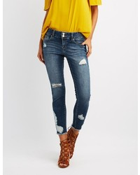 Charlotte Russe Refuge Destroyed Crop Boyfriend Jeans