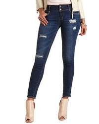 Charlotte Russe Refuge Mid Rise Skinny Dark Wash Jeans | Where to ...