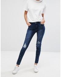 Pieces Rika Raw Hem Skinny Jeans